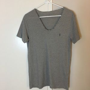 Other - All Saints Stripped Scoop Neck T-Shirt
